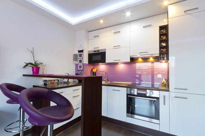 Применение светодиодной подсветки в интерьере кухни
