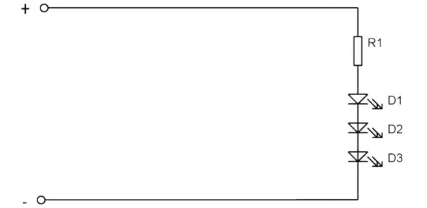 Схема последовательного подключения светодиодов