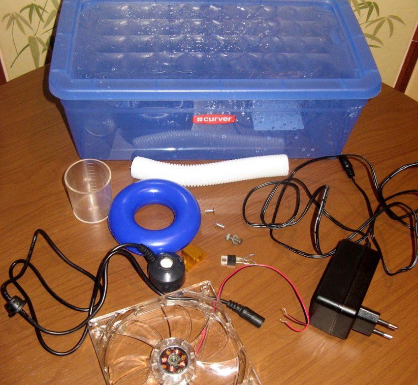 Необходимые комплектующие для создания ультразвукового увлажнителя в домашних условиях