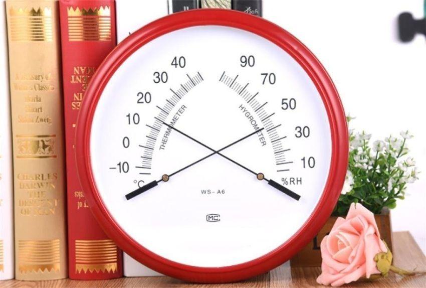 Механический термометр с гигрометром