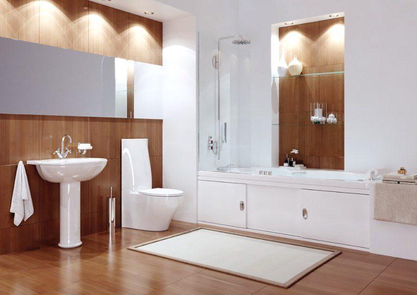 Влагостойкие МДФ-плиты в отделке ванной комнаты