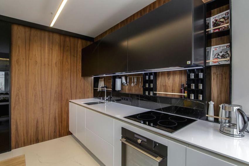 Отделка стен и фартука кухни с использованием МДФ