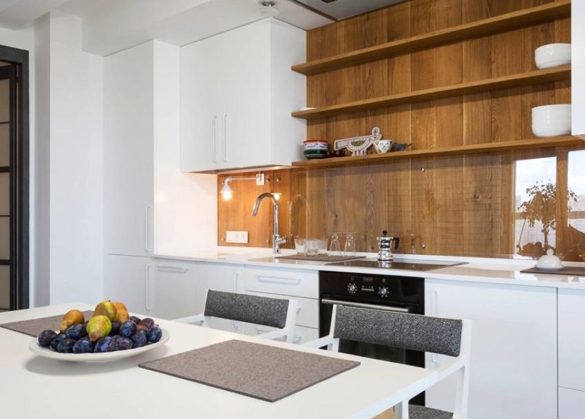 МДФ-панели в качестве фартука на кухне