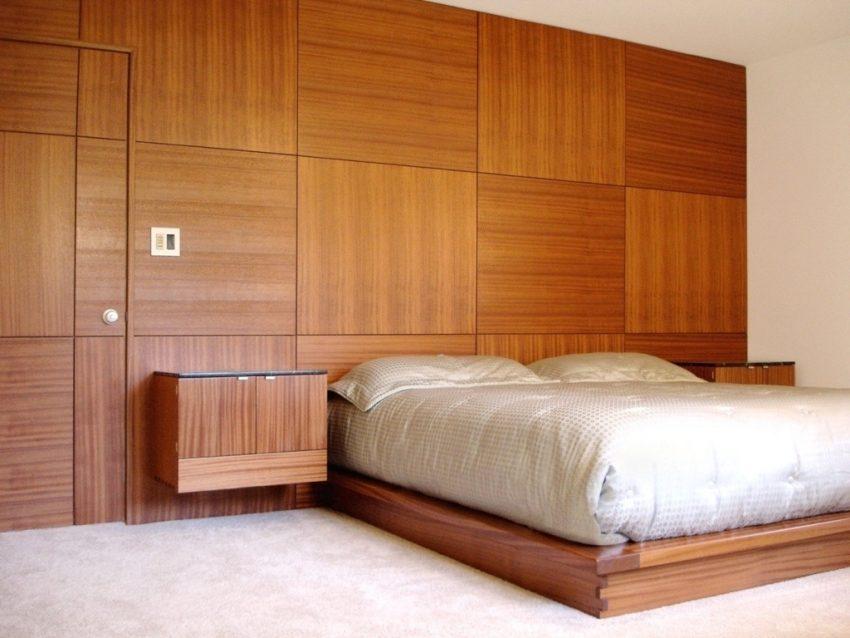 Стеновые панели МДФ в отделке спальни