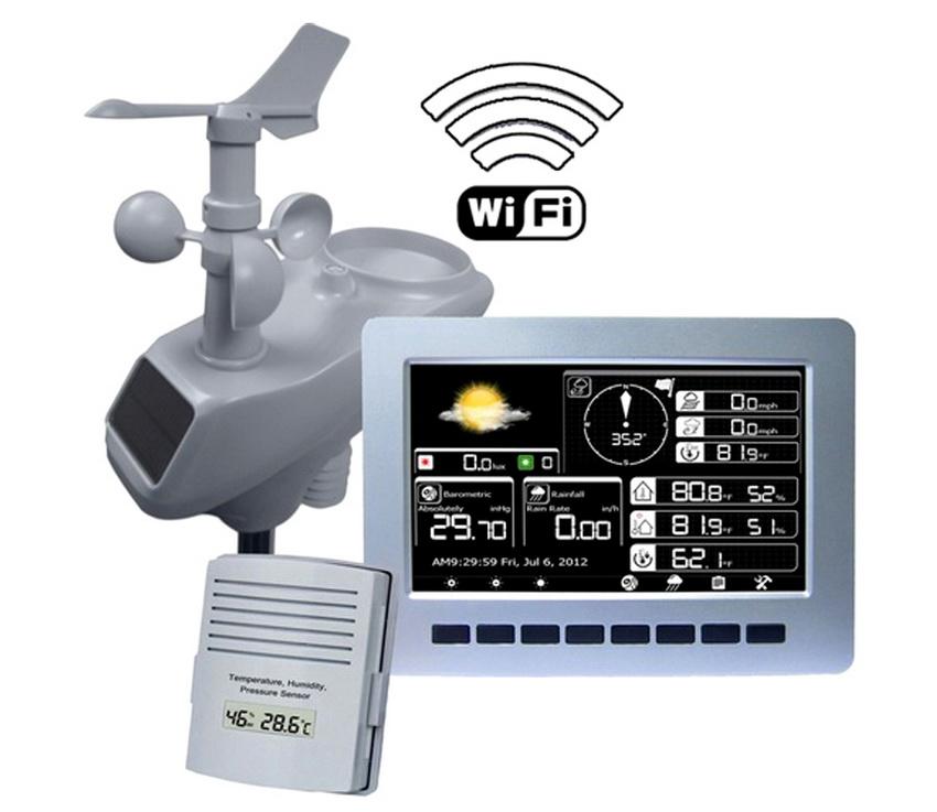 Профессиональная беспроводная погодная станция с подключением WI-FI и цветной графикой