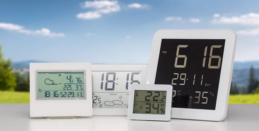 Интернет-магазины предлагают разнообразный ассортимент моделей цифровых метеостанций