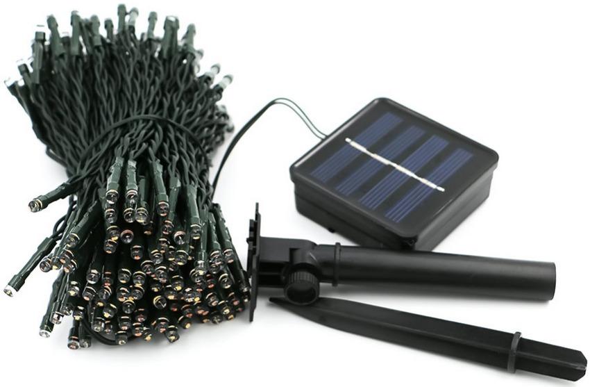 Уличная влагоустойчивая гирлянда, работающая от солнечной батареи