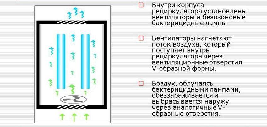 Принципиальная схема устройства закрытой ультрафиолетовой лампы