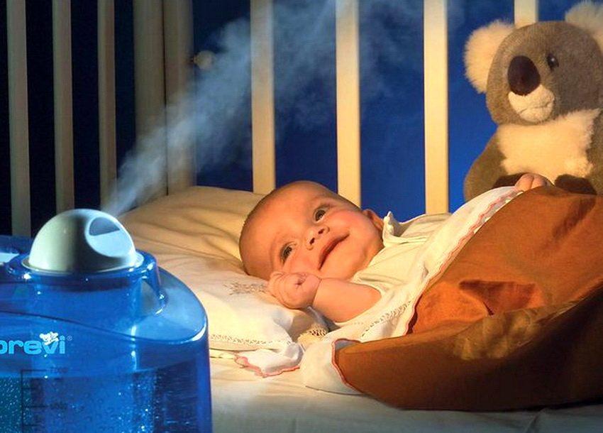 Установив увлажнитель в детской можно решить множество проблем с кожей, возникающих при излишне сухом микроклимате