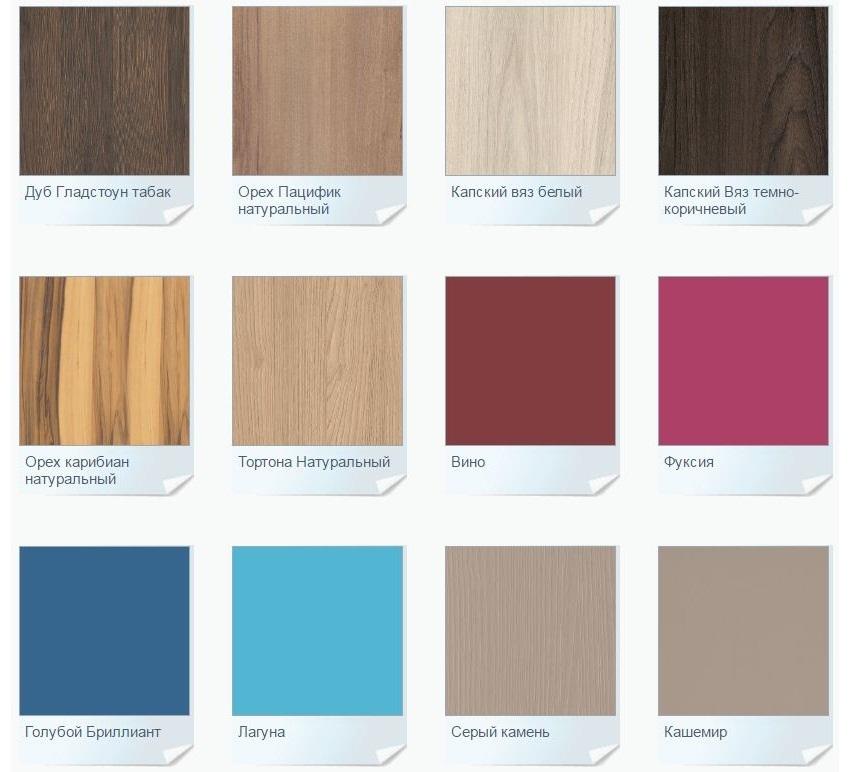 Различные расцветки древесно-стружечных плит
