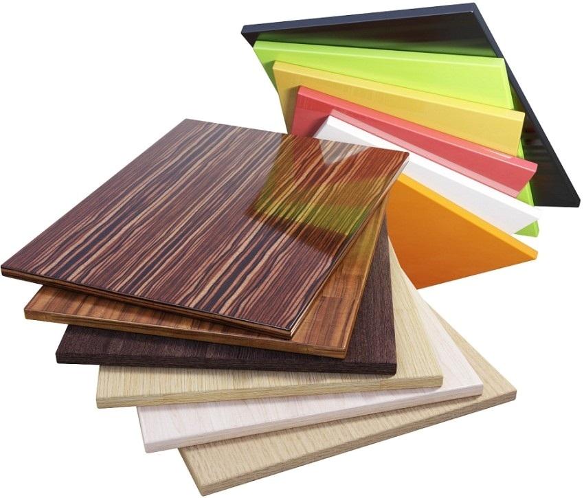 Ламинированные ДСП применяются в мебельном производстве
