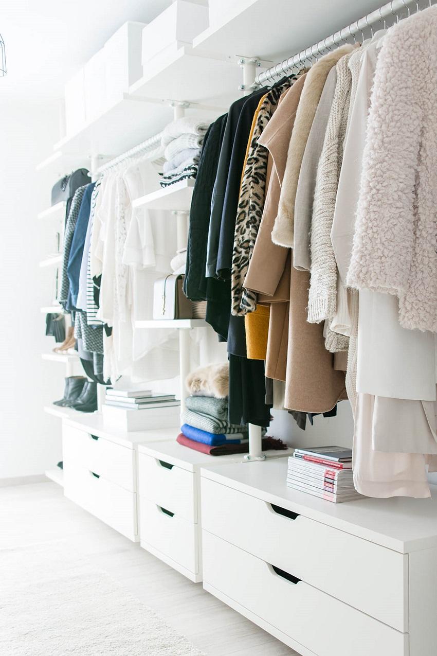 Удобная система хранения вещей, обуви и аксессуаров