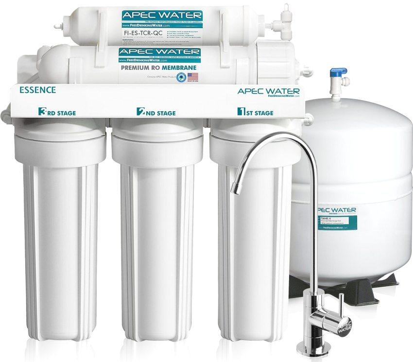 Проточный фильтр с дополнительным краном для питьевой воды