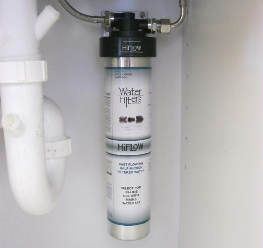 Зернистый магистральный фильтр для воды