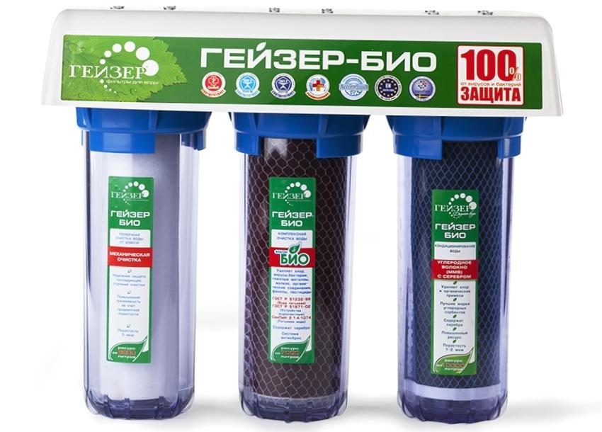 Проточный фильтр для воды Гейзер-Био