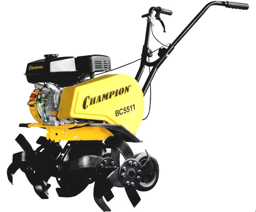 Мотокультиватор Champion ВC 5511 с объемом топливного бака 3,6 л