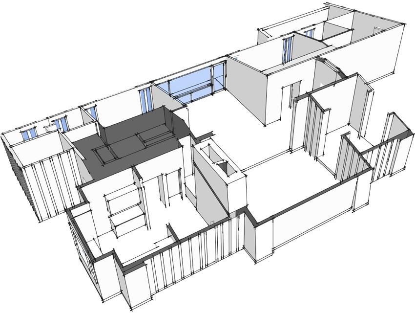 Проект одноэтажного дома из СИП-панелей