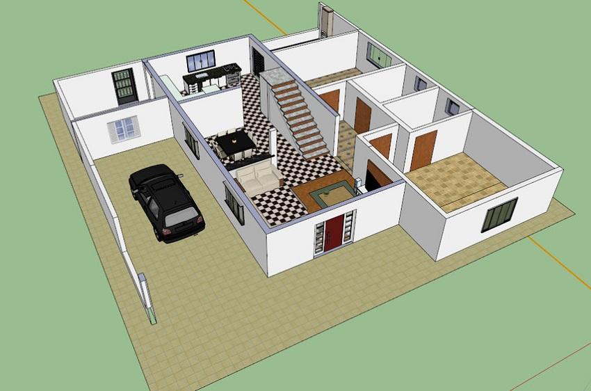 Проект дома из СИП-панелей с гаражом