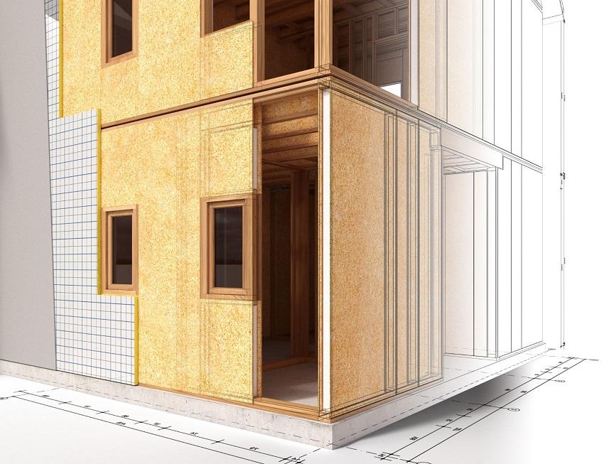 Строительный процесс дома из СИП-панелей достаточно низкозатратный