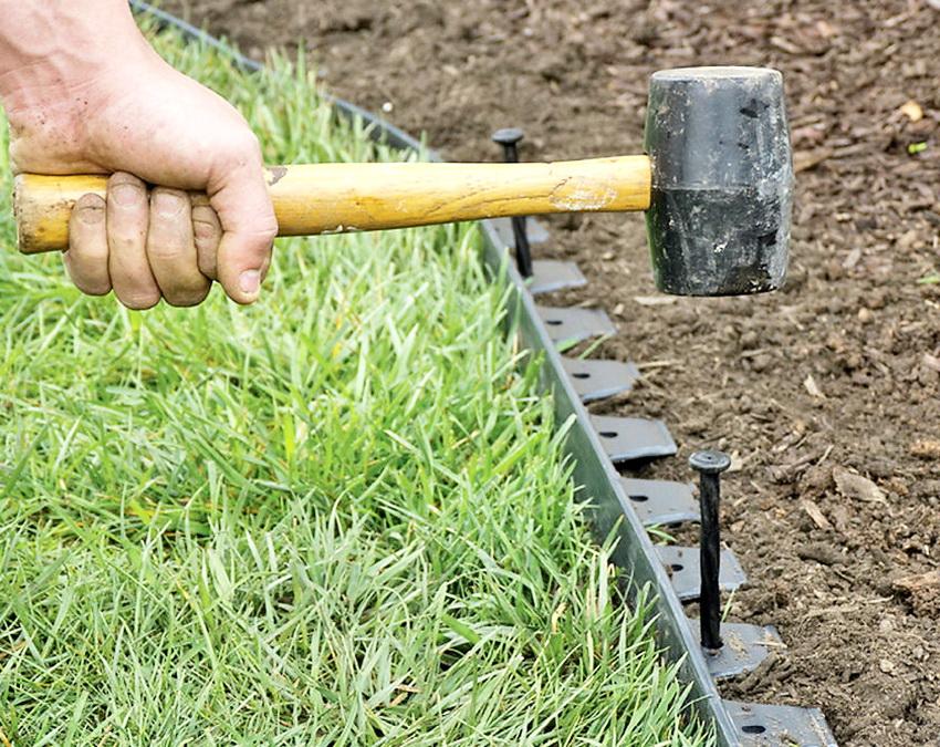 Монтаж садовой ленты своими руками