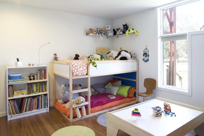 Открытый стеллаж и полка для хранения игрушек и книг