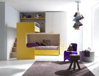 Мебельный детский гарнитур - шкаф, полки и двухэтажная кровать