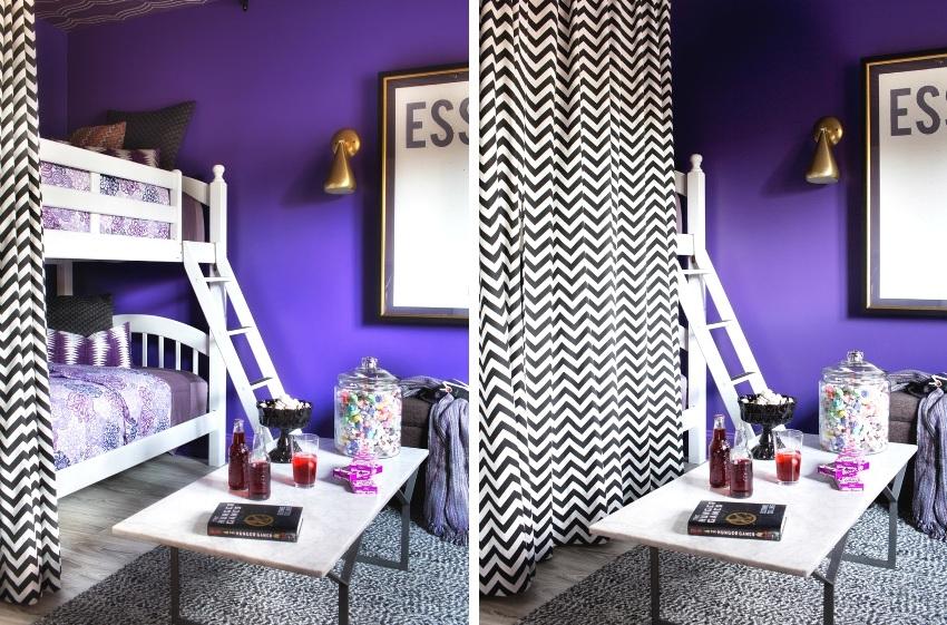 Для окрашивания стен детской использована водоимульсионная краска