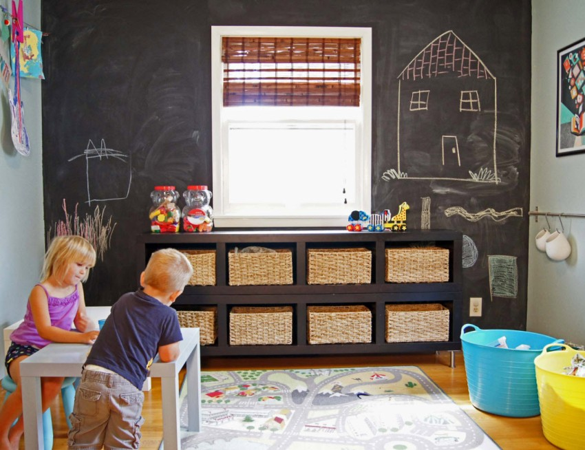 Использование черного цвета в интерьере комнаты для детей