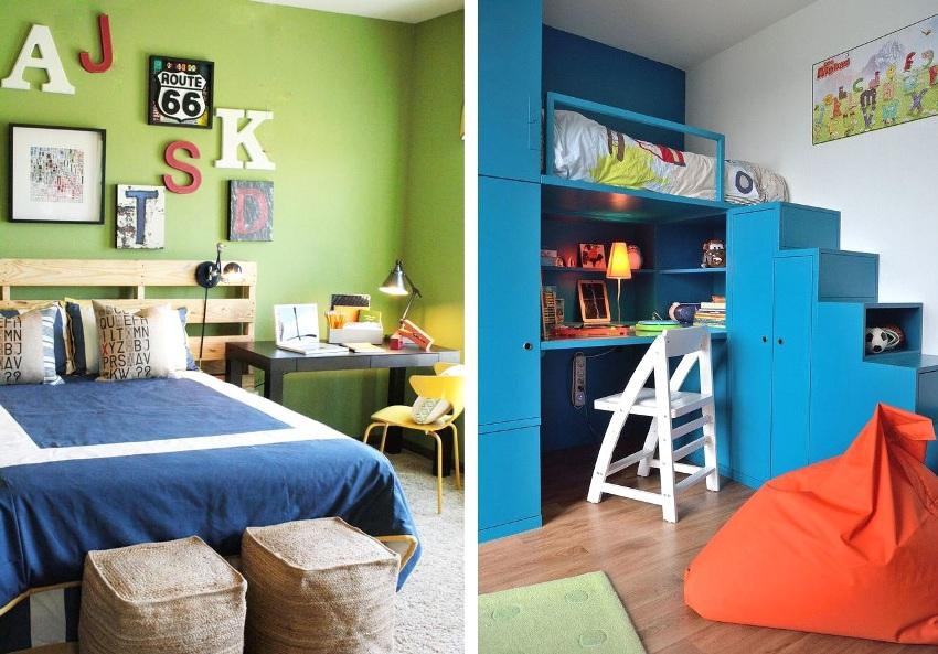 Комната двух братьев должна иметь общую и индивидуальные зоны