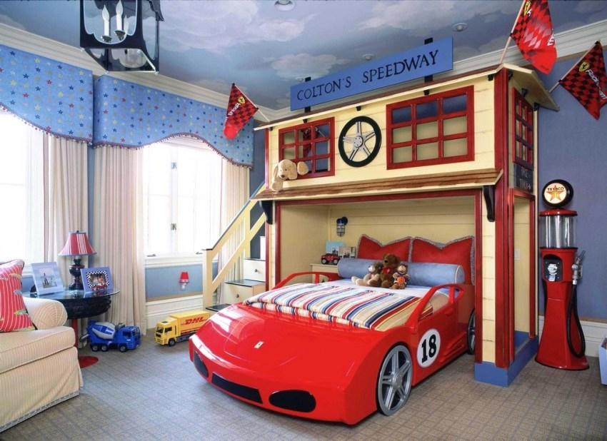 Оригинальный интерьер комнаты мальчика