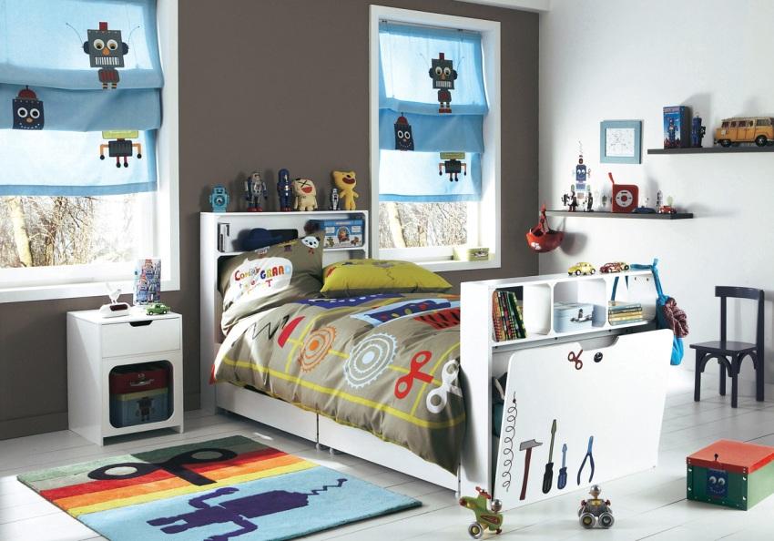 Интерьер комнаты мальчика в техническом стиле