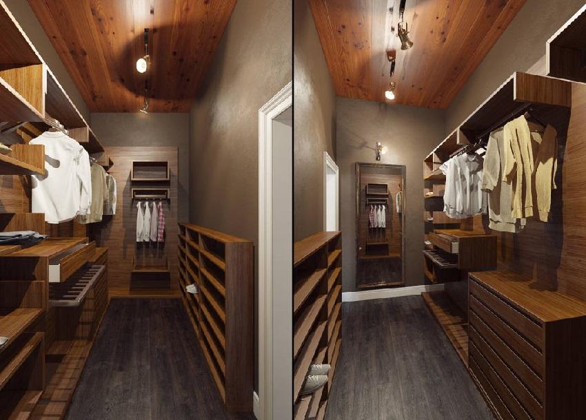 Гардеробная комната вместо кладовой