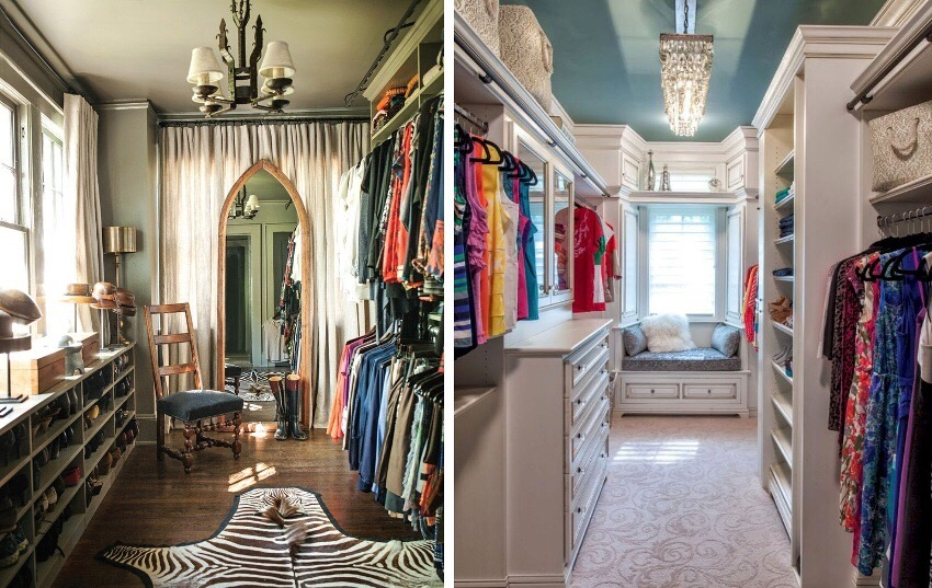 Внутренняя система хранения в гардеробной