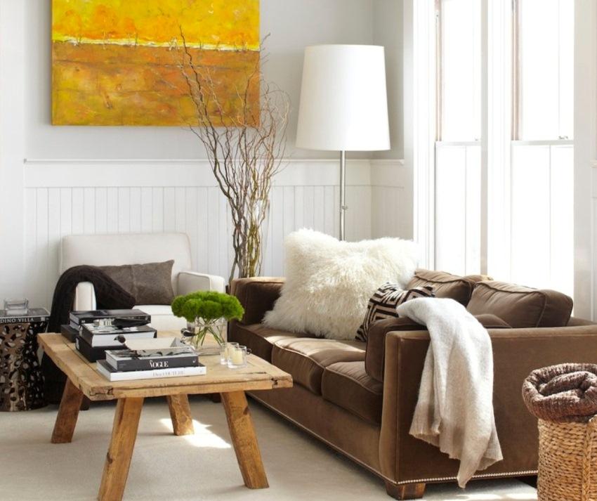Удобная, негабаритная мебель поможет сделать гостиную приятной для отдыха