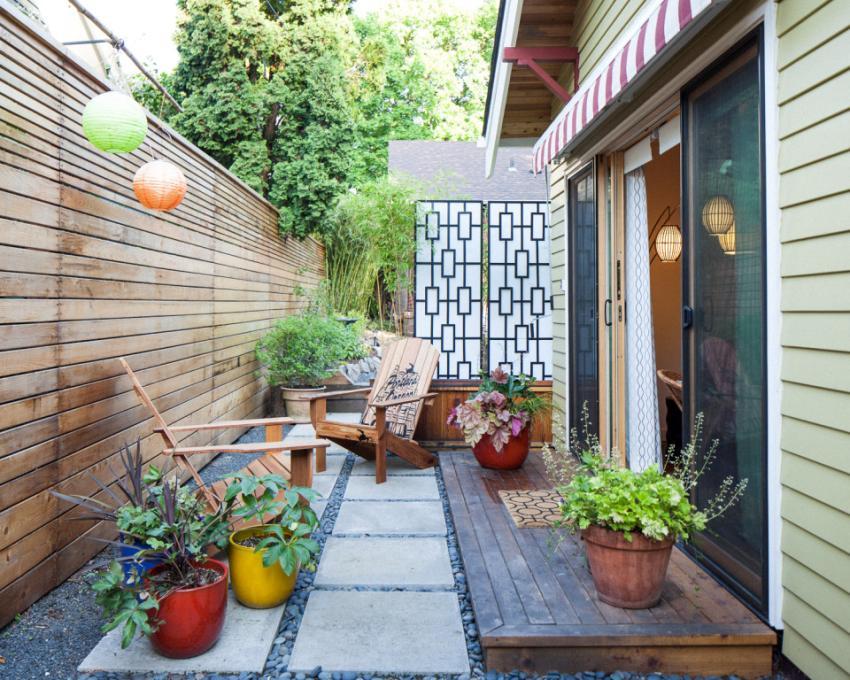 Идеи для дизайна двора в частном доме своими руками 81