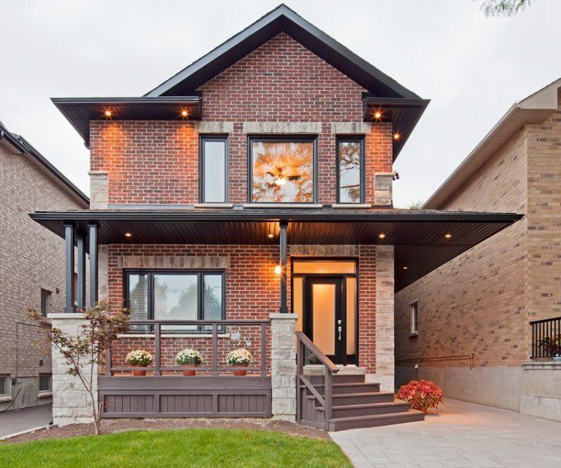 Дома дизайн кирпичные