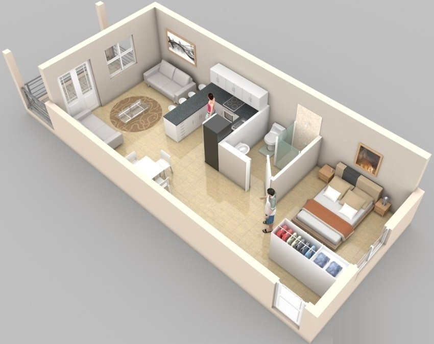 Дизайн квартир п 44т: проекты типовых однокомнатных