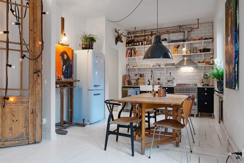 Оригинальный и креативный интерьер кухни