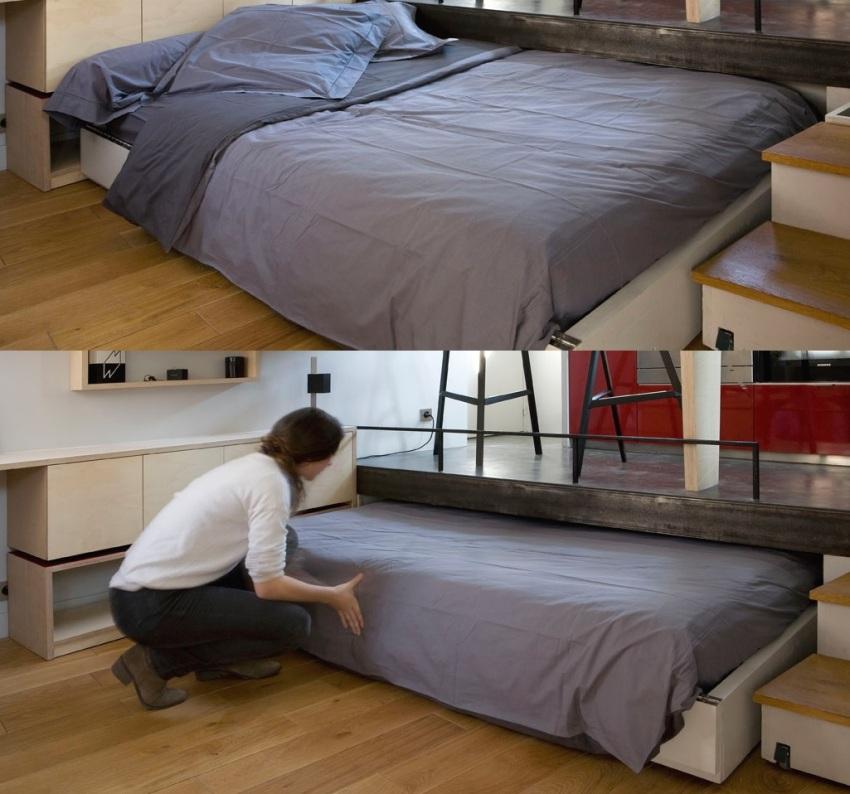 Мобильная выездная двуспальная кровать