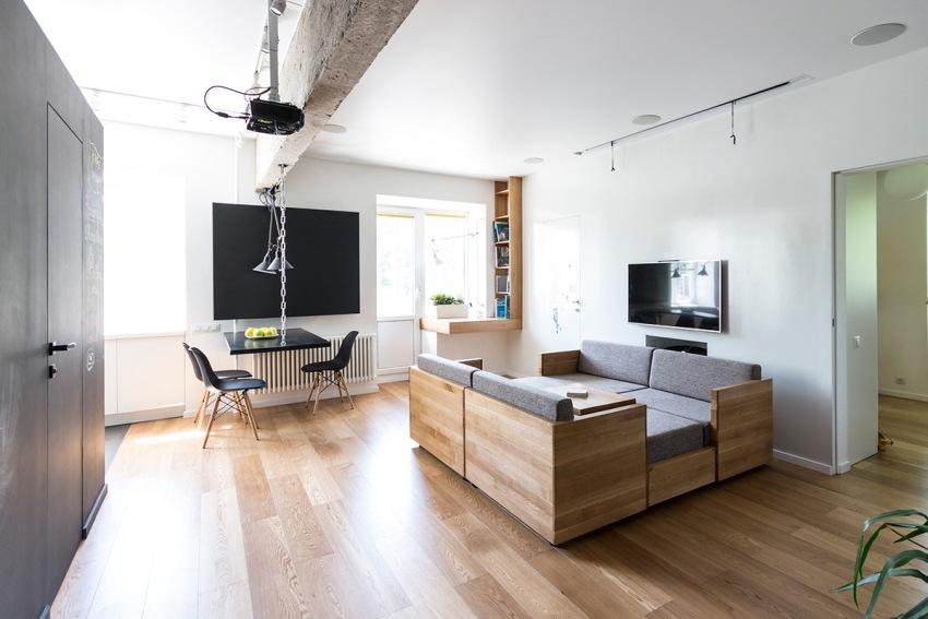 Мебель-конструктор можно передвигать в любое место комнаты