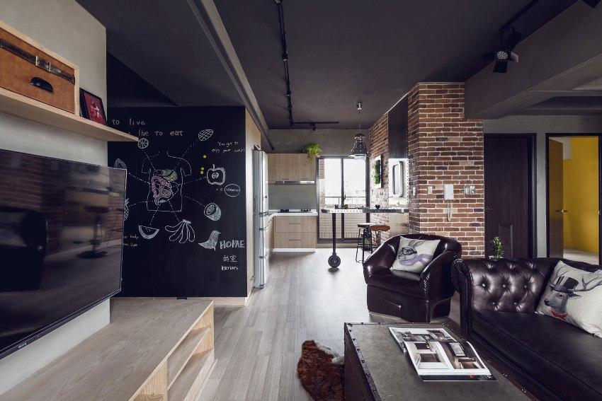 Использование черного цвета в оформлении квартиры