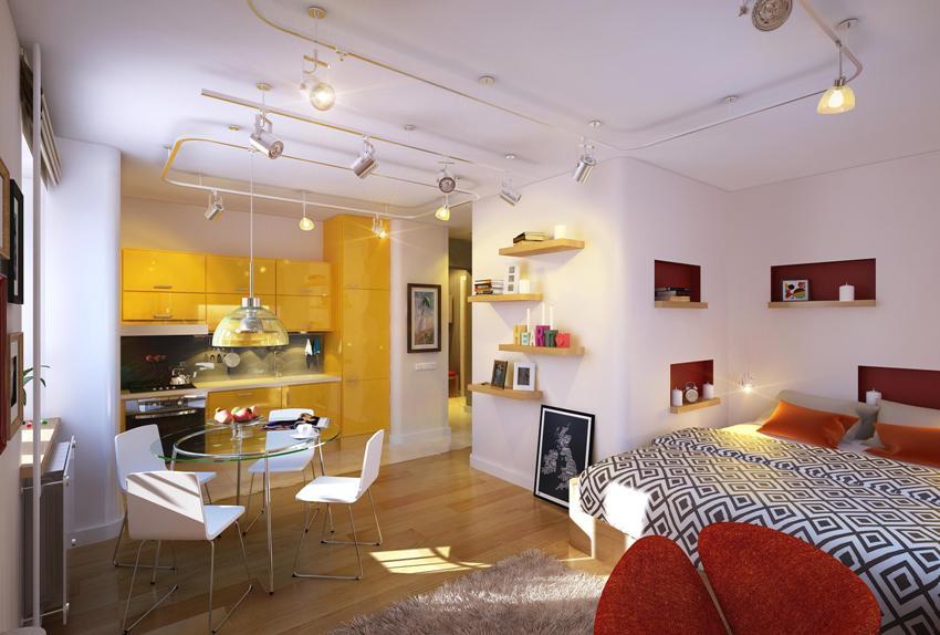 Декоративное и функциональное освещение в комнате
