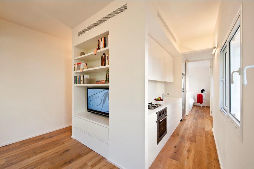 Минимализм в интерьере квартиры-студии