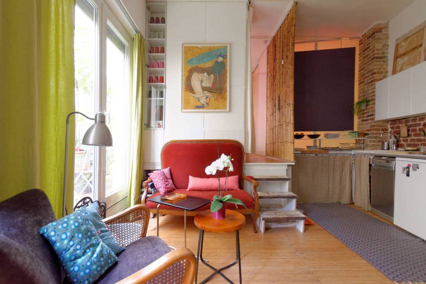 Оригинальный интерьер квартиры-студии