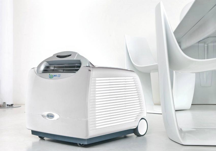 Эффективность охлаждения воздуха портативного кондиционера значительно ниже, чем у сплит-систем