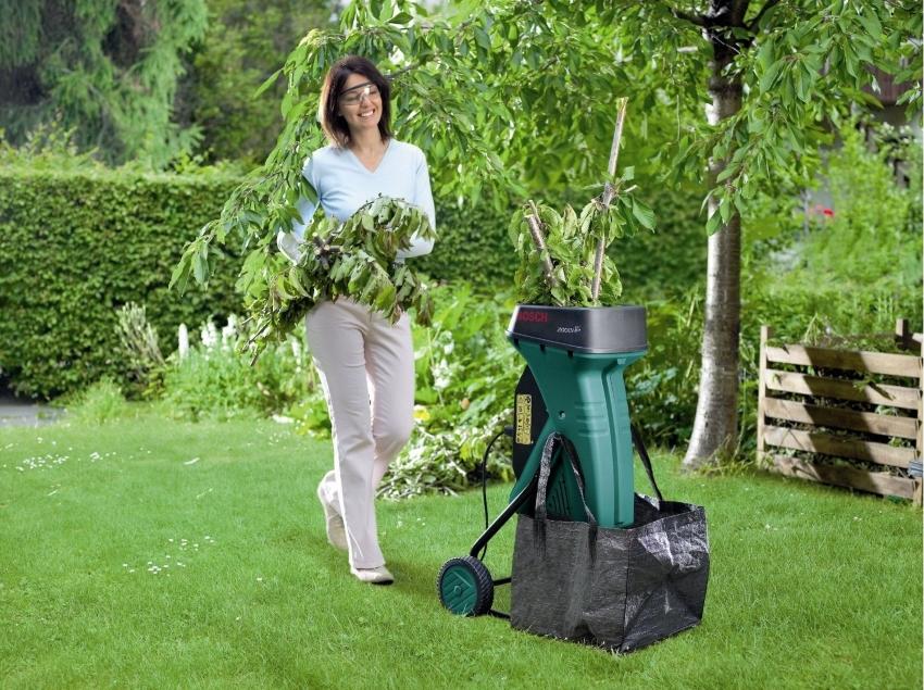 Как сделать садовый измельчитель