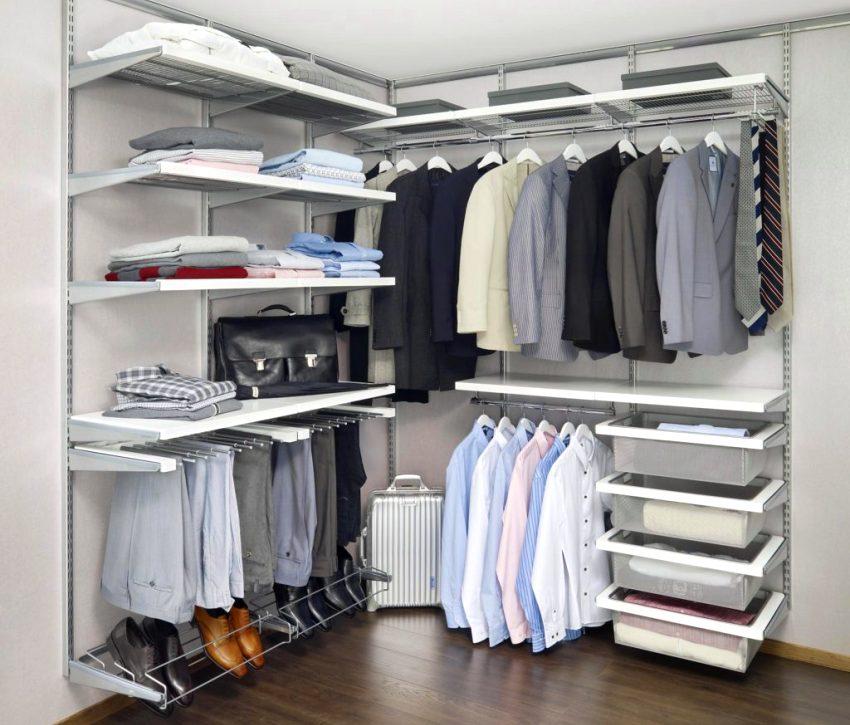 Мобильная угловая гардеробная комната Эльфа