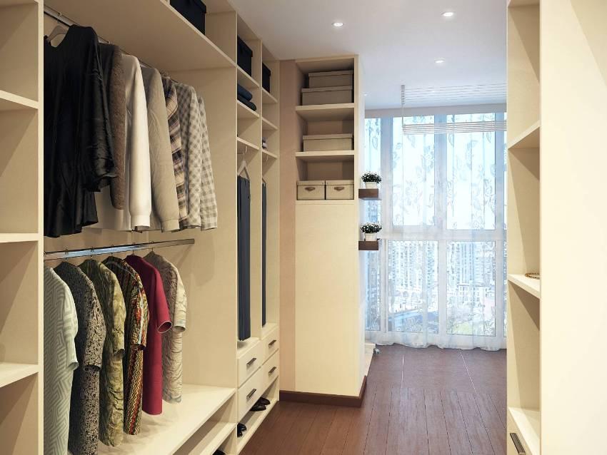 Гардеробная комната в строгом и элегантном дизайне