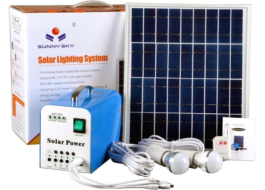 Комплект солнечной автономной системы для освещения дома
