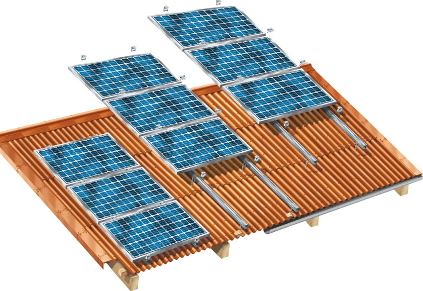 3D-схема установки солнечных панелей